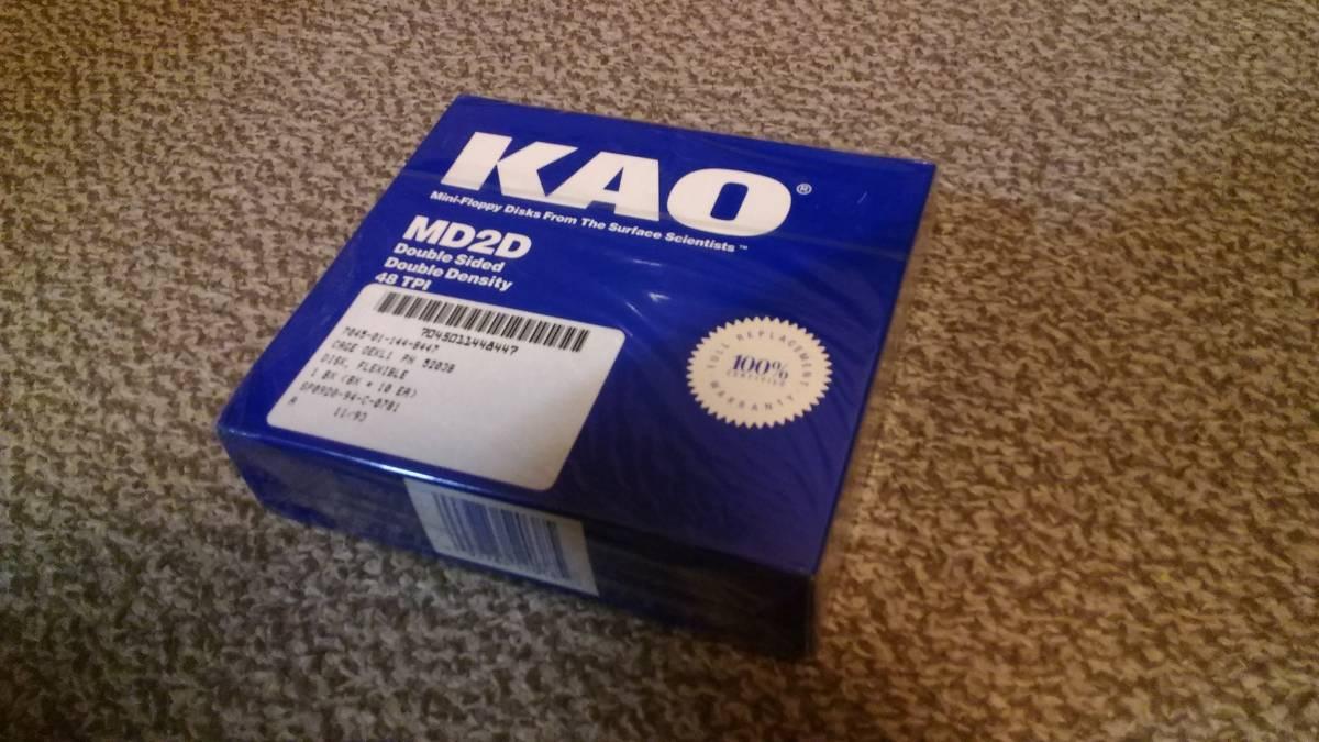 【未開封・100枚】 KAO 花王製 5インチ2Dフロッピーディスク10枚入×10箱 MD2D 5.25インチ PC-8801・PC-9801・SHARP X1など_画像2