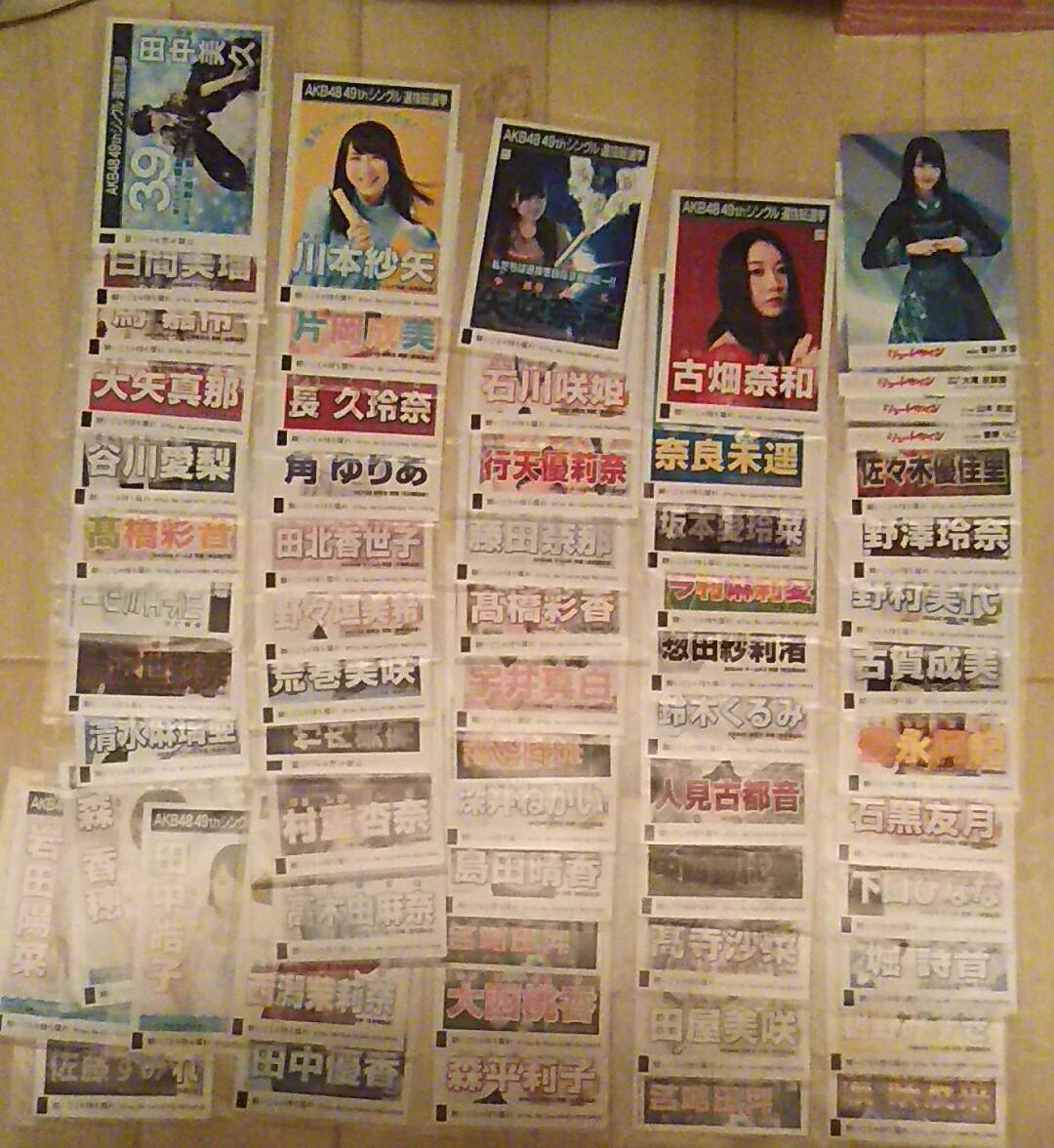 AKB48 願いごとの持ち腐れ、シュートサイン 劇場版 生写真 62枚セット ライブ・総選挙グッズの画像