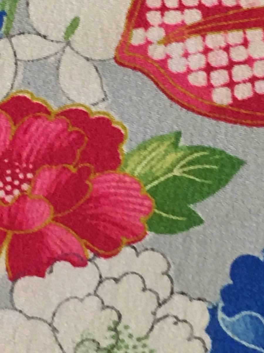 古布正絹*錦紗(扇に四季花、308)*手作り*市松人形_画像3