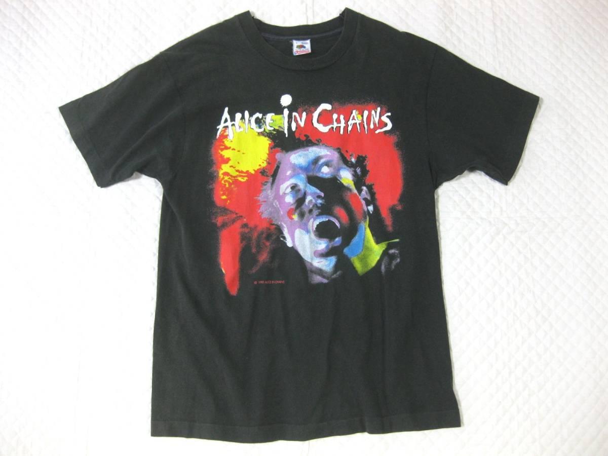 1990年■Alice in chainsアリスインチェインズ FACELIFT TOUR T 黒 L■ツアーTヴィンテージ