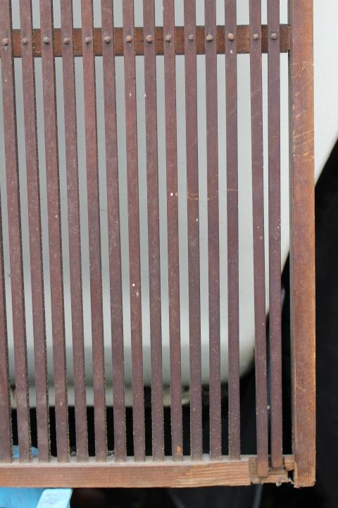 即決■味のある千本格子戸【格子窓】4枚セット■巾86×100cm■古建具古民具昭和レトロ時代古道具アンティーク骨董和室古民家リノベーション_画像2