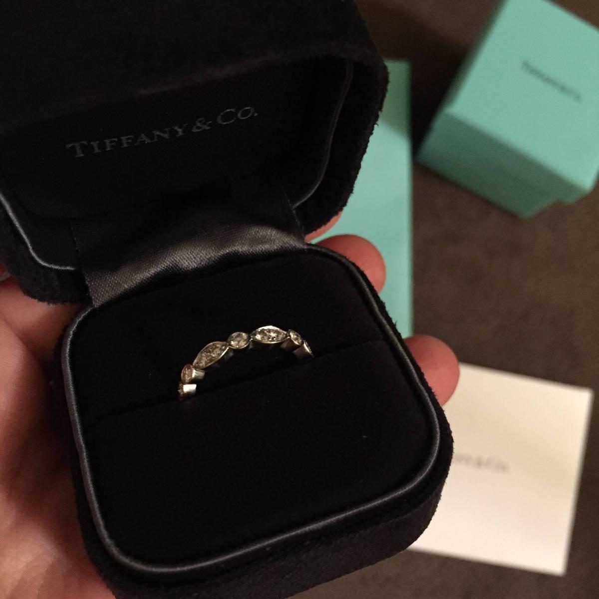 定価\718,200 ティファニー ジャズ フルサークル バンドリング 超美品 プラチナ ダイヤ リング 指輪_画像3