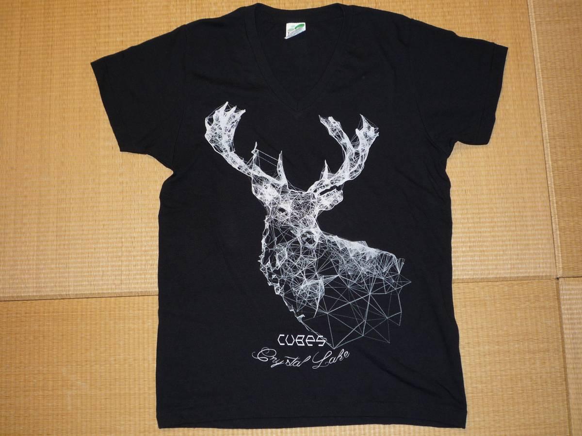 Crystal Lake VネックTシャツ 黒 サイズS SHADOWS SWANKY DANK VOLCOM