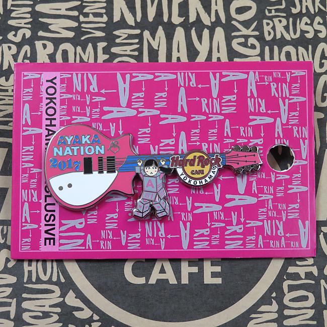 1円スタート 2017 Ayaka-Nation Pin ハードロックカフェ横浜店限定ピン ピンズ 検:あーりん ソロコン 佐々木彩夏 両国 ももクロ ライブグッズの画像