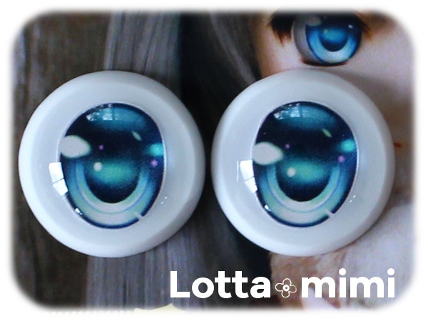 ◆Lotta mimi◆ レジンアイ 22mm相当  アクアブルー_画像2