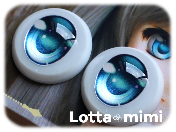 ◆Lotta mimi◆ レジンアイ 22mm相当  アクアブルー