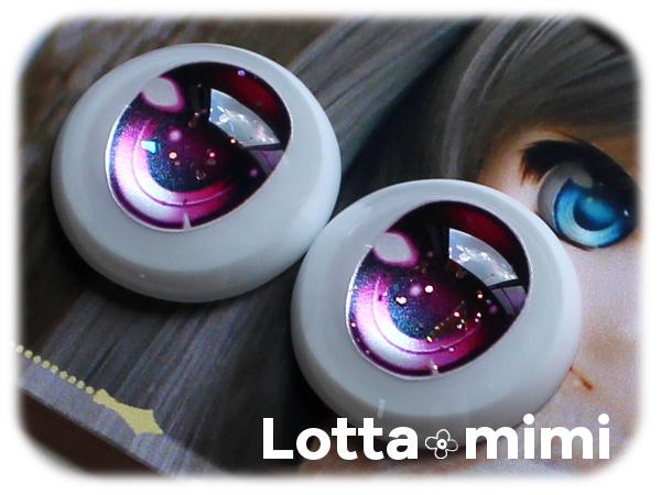 ◆Lotta mimi◆ レジンアイ 22mm相当 ローズピンクラメ