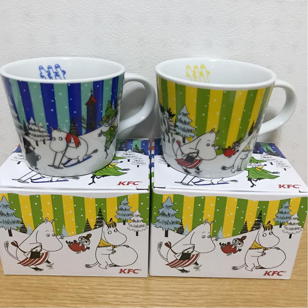 ☆新品 ムーミン マグカップ 2種 ケンタッキー 青 緑 コンサートグッズの画像