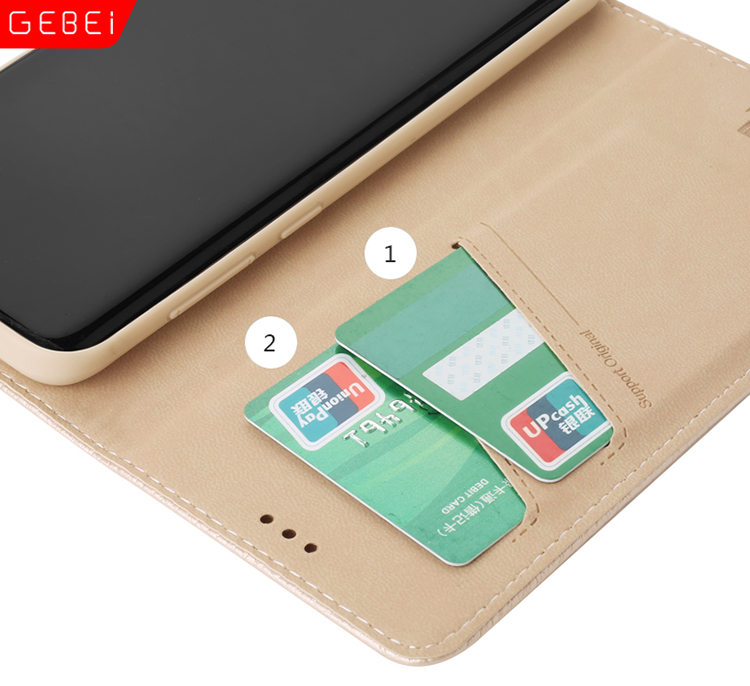 ガラスフィルム付き!Galaxy S8 Plus ケース スマホケース 手帳型 カード収納 ソフト 本革 ブルーブラック_画像3