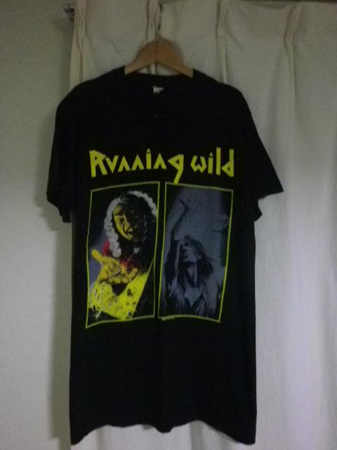 90s 1990年 ヴィンテージ USA製 RUNNING WILD ランニングワイルド Tシャツ メタリカ スレイヤー アンスラックス