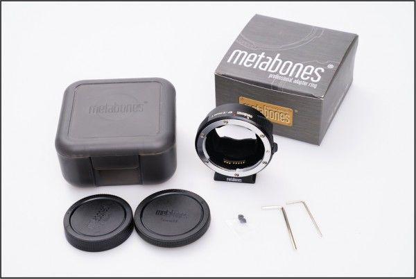 完動品 METABONES SONY E Canon EF 電子接点付アダプター付 Ver4 IV