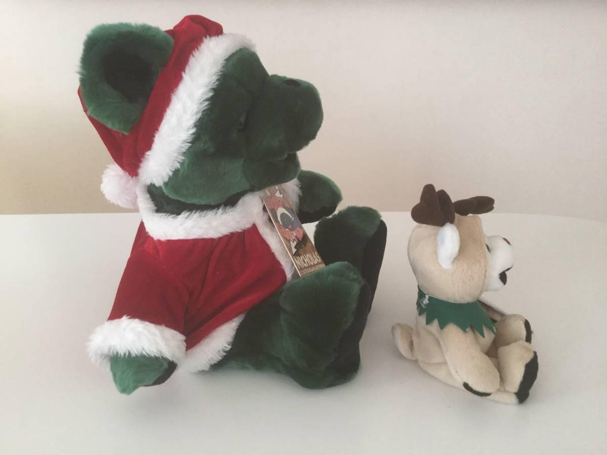 ★GRATEFUL TEDDY BEAR/グレイトフルデッドベア/テディベアセット/サンタクロース40cm&トナカイ18cm/クリスマス/Rudy & NICHOLAS_画像3