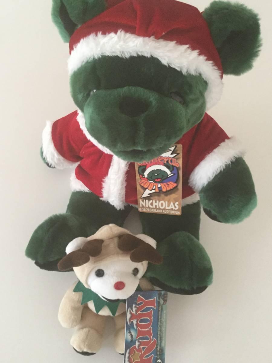 ★GRATEFUL TEDDY BEAR/グレイトフルデッドベア/テディベアセット/サンタクロース40cm&トナカイ18cm/クリスマス/Rudy & NICHOLAS_画像1