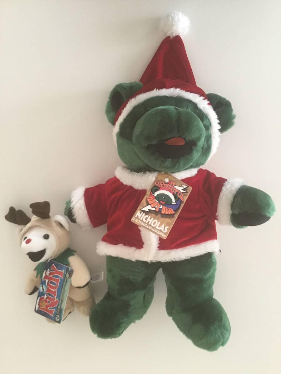★GRATEFUL TEDDY BEAR/グレイトフルデッドベア/テディベアセット/サンタクロース40cm&トナカイ18cm/クリスマス/Rudy & NICHOLAS_画像2
