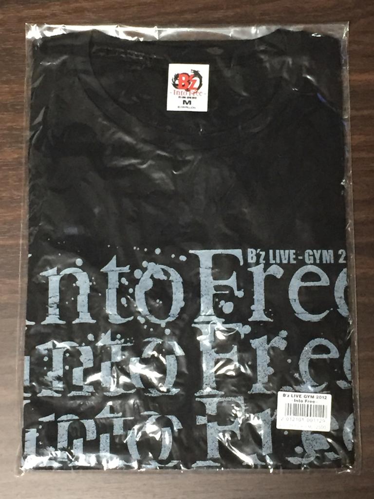 新品未開封 B'z LIVE-GYM 2012 ~Into Free~ スクリプトTシャツ (M)