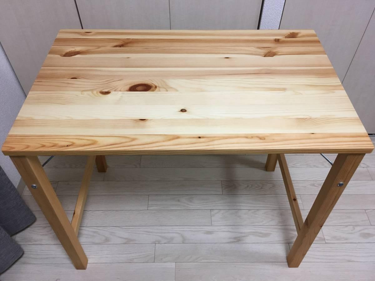 もうちょっと幅が大きいのがほしかったのですが、ローテーブルをサイドテーブル的に使えばいいのでは?と思って候補に挙がってなかった折り畳みテーブルを買うことに  ...