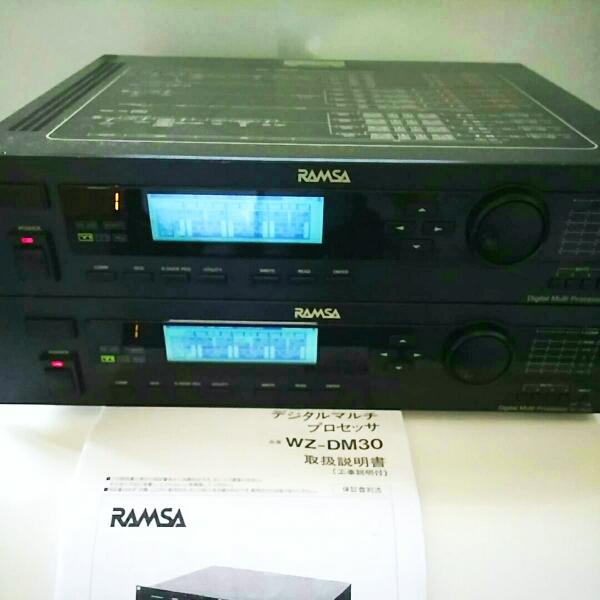 90万円 2~4way デジタルチャンネルデバイダー RAMSA WZ-DM30 ペア 動作確認済、動作不良時,返品返金対応 。Accuphase cap、取扱説明書付。