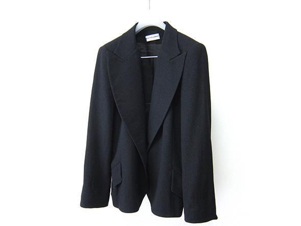 高級 LEONARD レオナール シルク100%裏地 エレガント テーラードジャケット 黒 ブラック 44サイズ