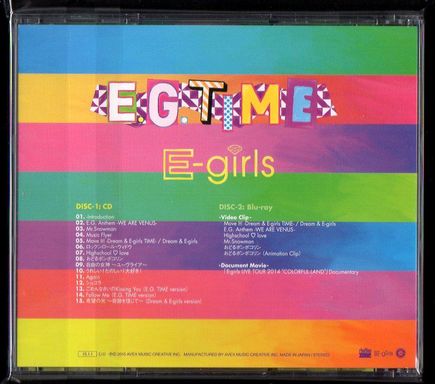 E-girls E.G. TIME 通常盤 CD+Blu-ray RZCD-59767/B_画像2