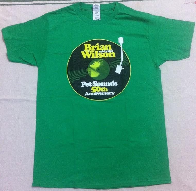 新品★ブライアン・ウィルソン 2016年来日公演 ツアーTシャツ Mサイズ ペットサウンズ50周年記念★緑 Brian Wilson ビーチボーイズ