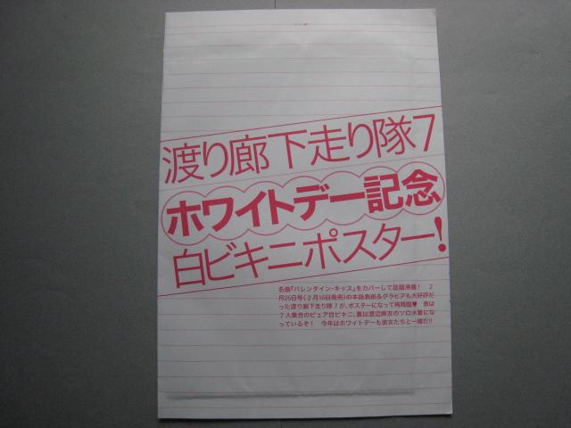 【未開封】AKB48 ポスター(渡り廊下走り隊7)