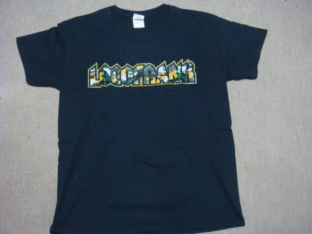 locofrank!!ロコフランク!!Tシャツ!!7734カモフラロゴTシャツ!!迷彩!!黒!!ブラック!!black!!773FourRECORDS!!Mサイズ!!中古品!!