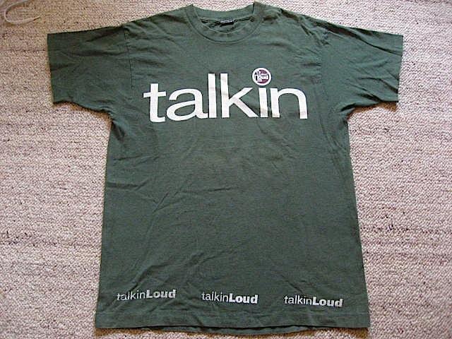 TALKI LOUD PROMO ビンテージ プロモーション Tシャツ レア 90s UK club 当時物 プロモ acid Jazz House Incognito ジャイルス GALLIANO