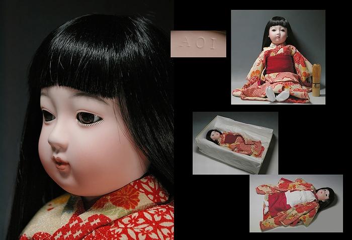ビスクドール/市松人形/ 創作ビスクドール 市松女子 在銘です!