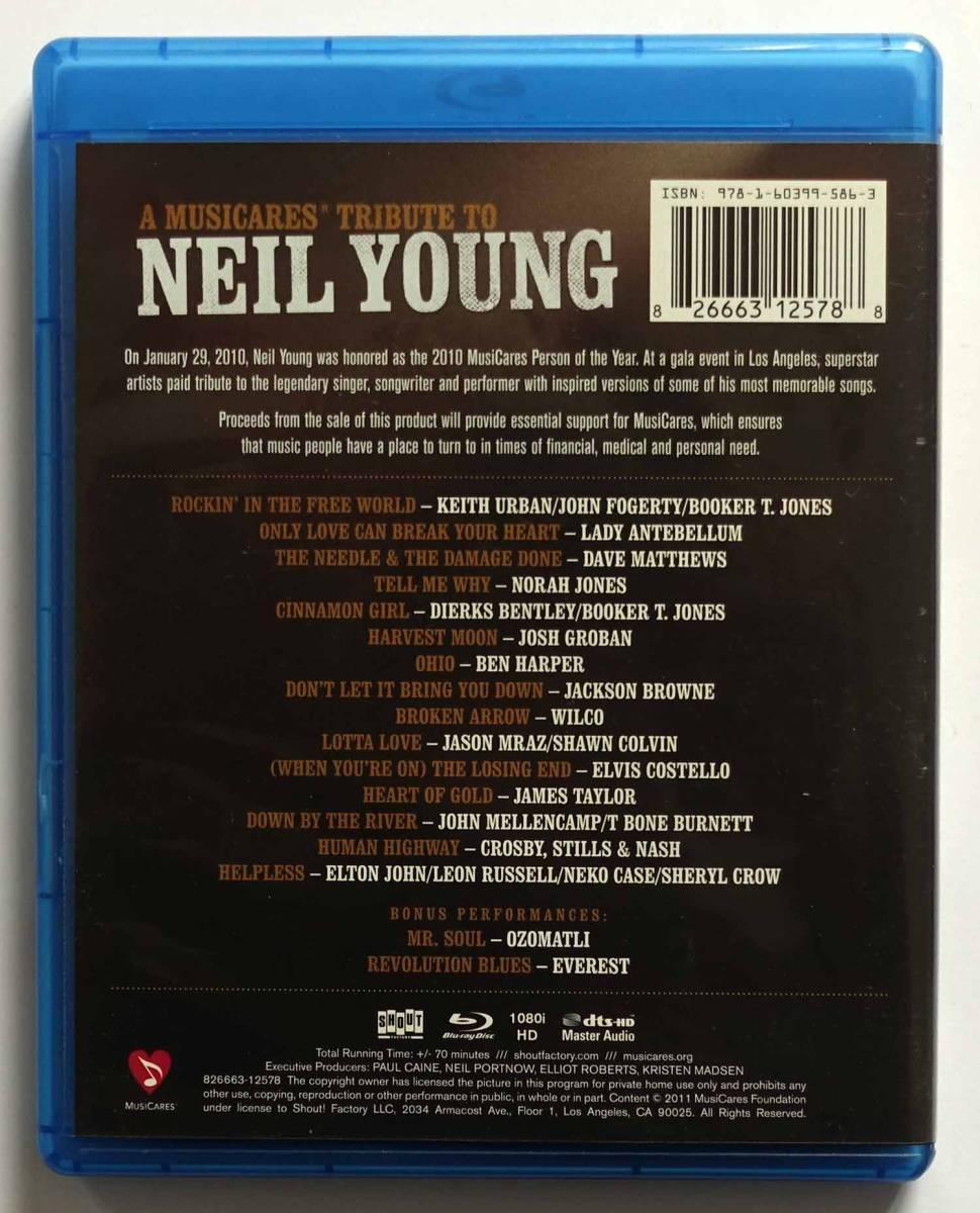 A Musiccares Tribute to Neil Young [Blu-ray]「ニール・ヤング・トリビュート・コンサート」US版 John Fogerty CS&N Jackson Browne他_画像2