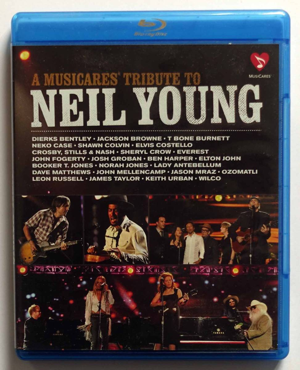 A Musiccares Tribute to Neil Young [Blu-ray]「ニール・ヤング・トリビュート・コンサート」US版 John Fogerty CS&N Jackson Browne他_画像1