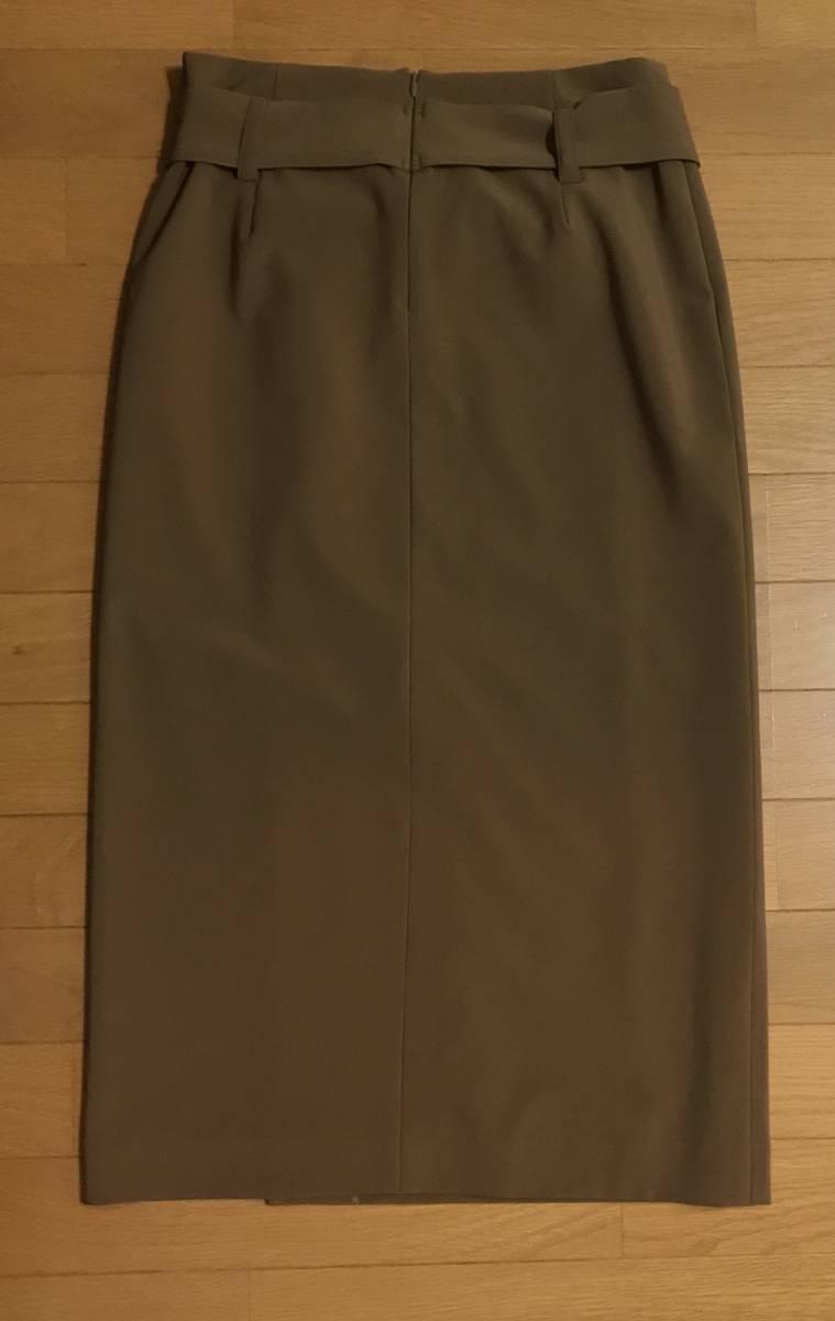 新品!B7ベーセッツ 大人キャメルカラー リボン付きラップタイトスカート ドゥーズィエムクラスガリャルダガランテウィムガゼット好きに_画像3