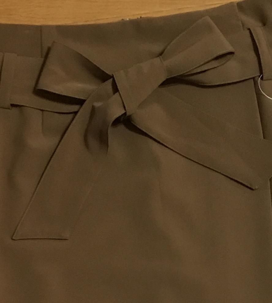 新品!B7ベーセッツ 大人キャメルカラー リボン付きラップタイトスカート ドゥーズィエムクラスガリャルダガランテウィムガゼット好きに_画像2