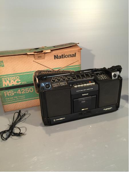 【ジャンク品】 ラジカセ National STEREO MAC ST-5 RS-4250