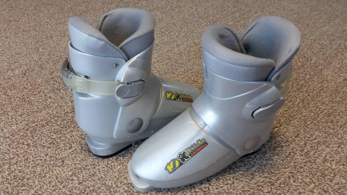 スキーウェア、ブーツセット ウェア130センチ(調整紐付き) ブーツ20センチ 中古_画像2