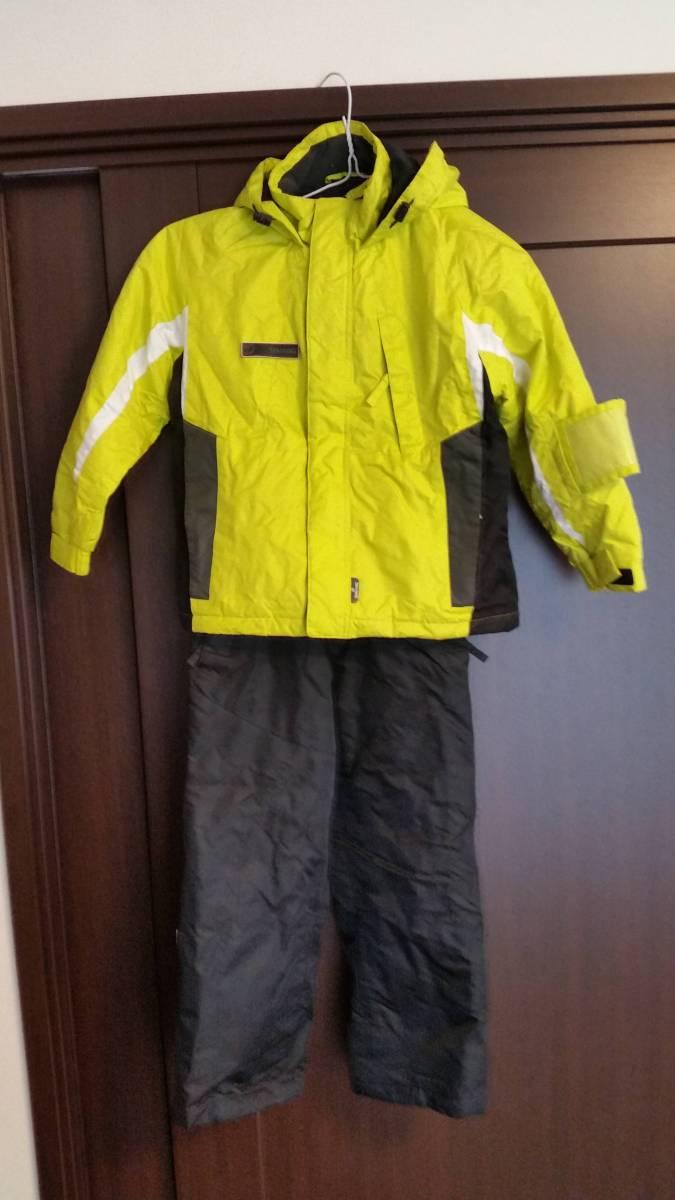 スキーウェア、ブーツセット ウェア130センチ(調整紐付き) ブーツ20センチ 中古