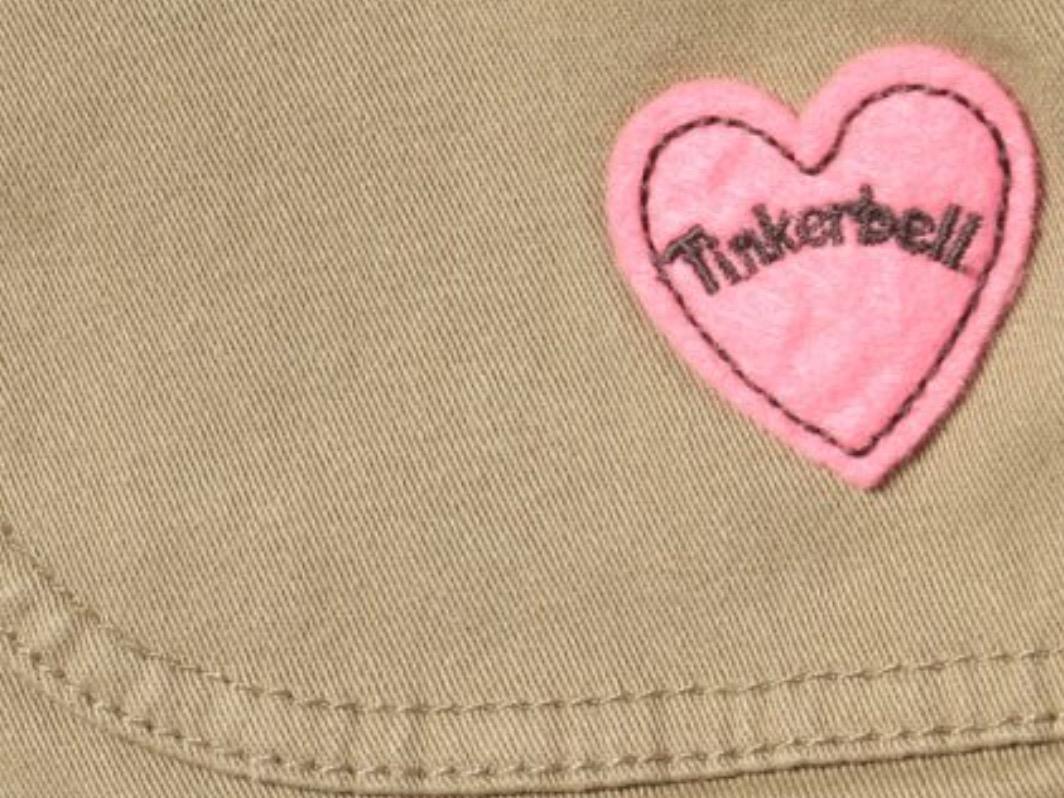 新品 定価¥5,460 ★ TINKER BELL ティンカーベル ★ ズボン 110 サイズ ★ ストレッチツイルリブパンツ ★ ベージュ パンツ キッズ_画像2