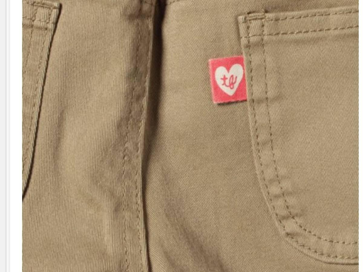 新品 定価¥5,460 ★ TINKER BELL ティンカーベル ★ ズボン 110 サイズ ★ ストレッチツイルリブパンツ ★ ベージュ パンツ キッズ_画像3
