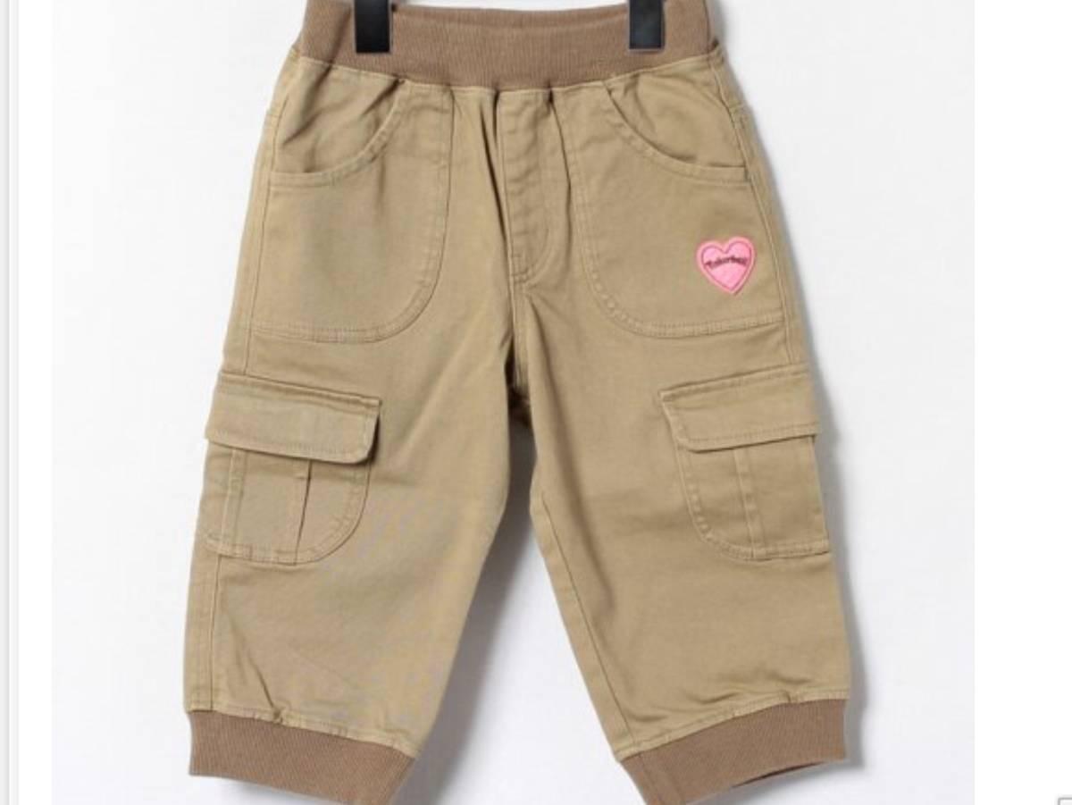 新品 定価¥5,460 ★ TINKER BELL ティンカーベル ★ ズボン 110 サイズ ★ ストレッチツイルリブパンツ ★ ベージュ パンツ キッズ