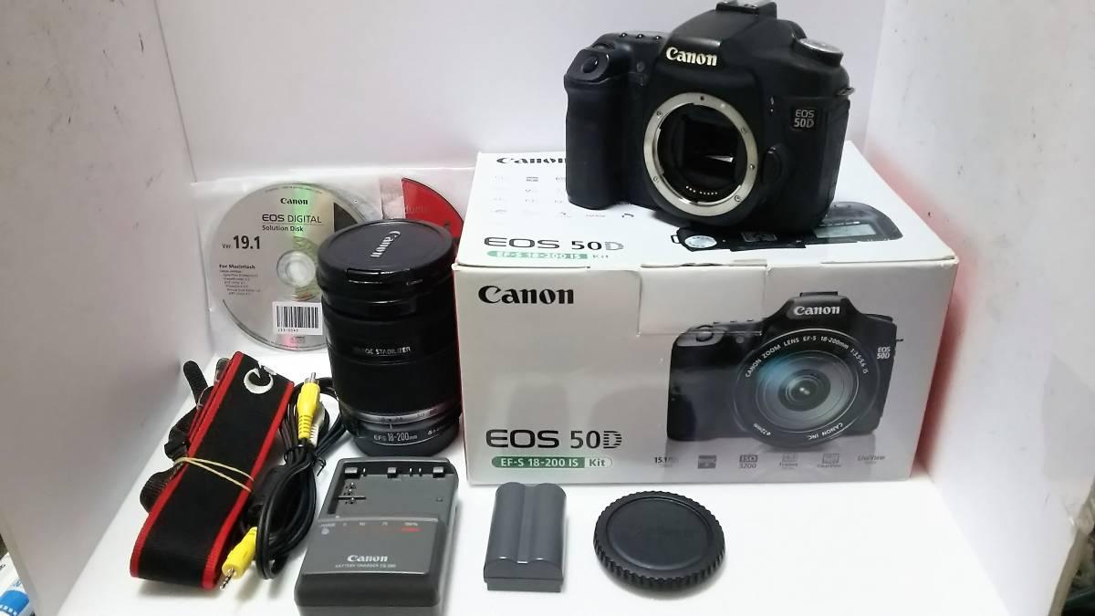 キャノン ★ Canon EOS50D + ZOOM LENS EF-S 18-200mm F3.5-5.6 IS Kit ★