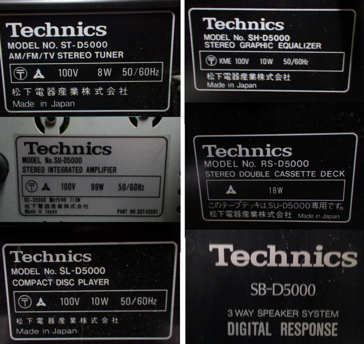 テクニクス システムコンポ+スピーカー ペア◆ST-D5000・SU-D5000・SL-D5000・SH-D5000・RS-D5000・SB-D5000◆現状品Q31_画像3