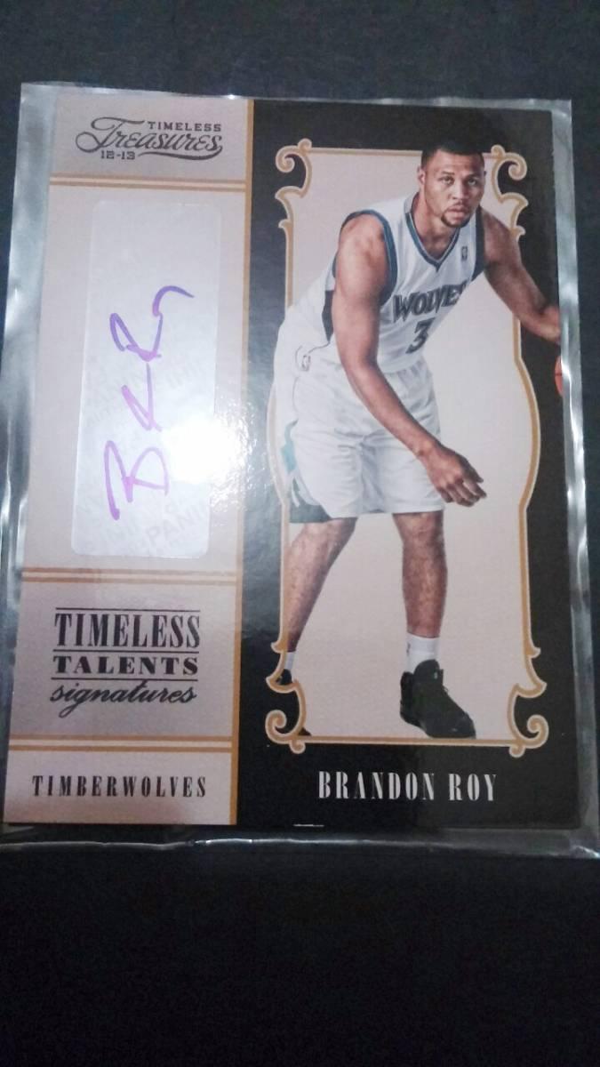 25シリブランドンロイ PANINI TIMELESS TREASURES BRANDON ROY auto NBA WOLVES グッズの画像