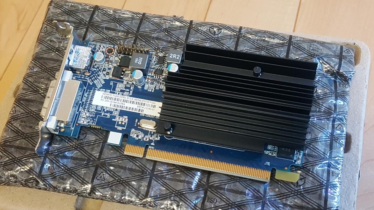 SAPPHIRE Radeon HD6450 512M DDR3 HDMI/DVI-D/VGA ロープロファイル LP LOWPROFILE