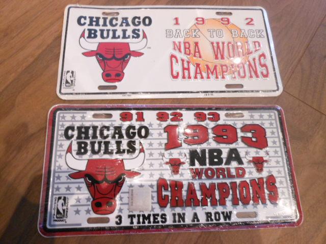 NBA シカゴブルス ライセンスプレート 2枚 グッズの画像