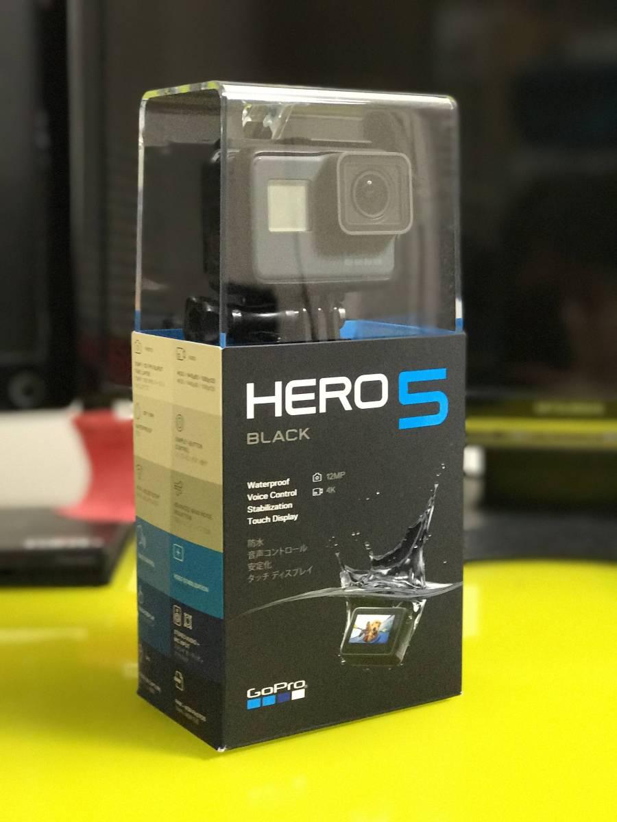 【送料無料】【ほぼ新品】【国内正規品】【予備バッテリ付き】GoPro HERO5 Black