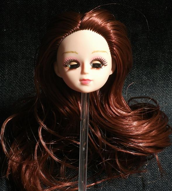 c183fcf33ad 1/6 doll head custom head 3D EYE use I moveable .. eyes tea color A ...
