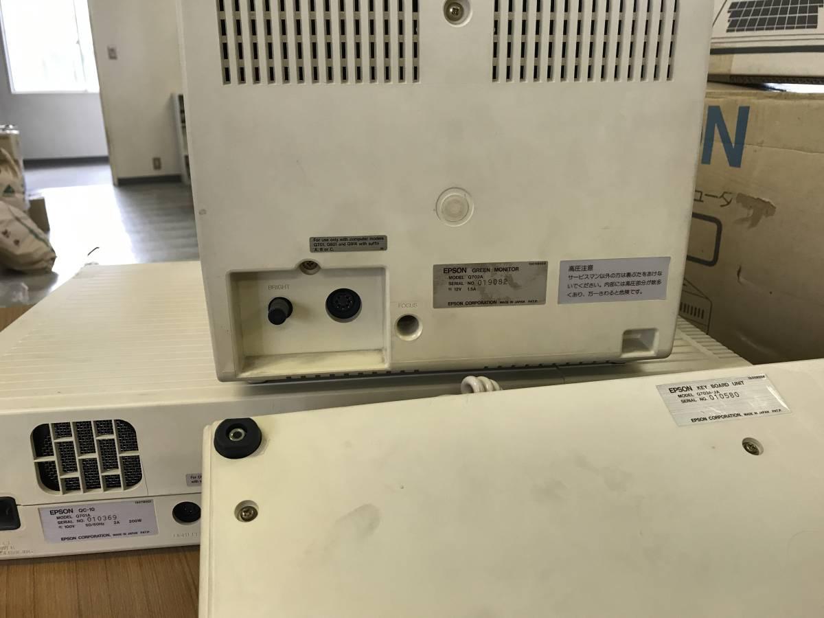 EPSON 日本語パーソナルコンピュータ QC-10 ジャンク品_画像3