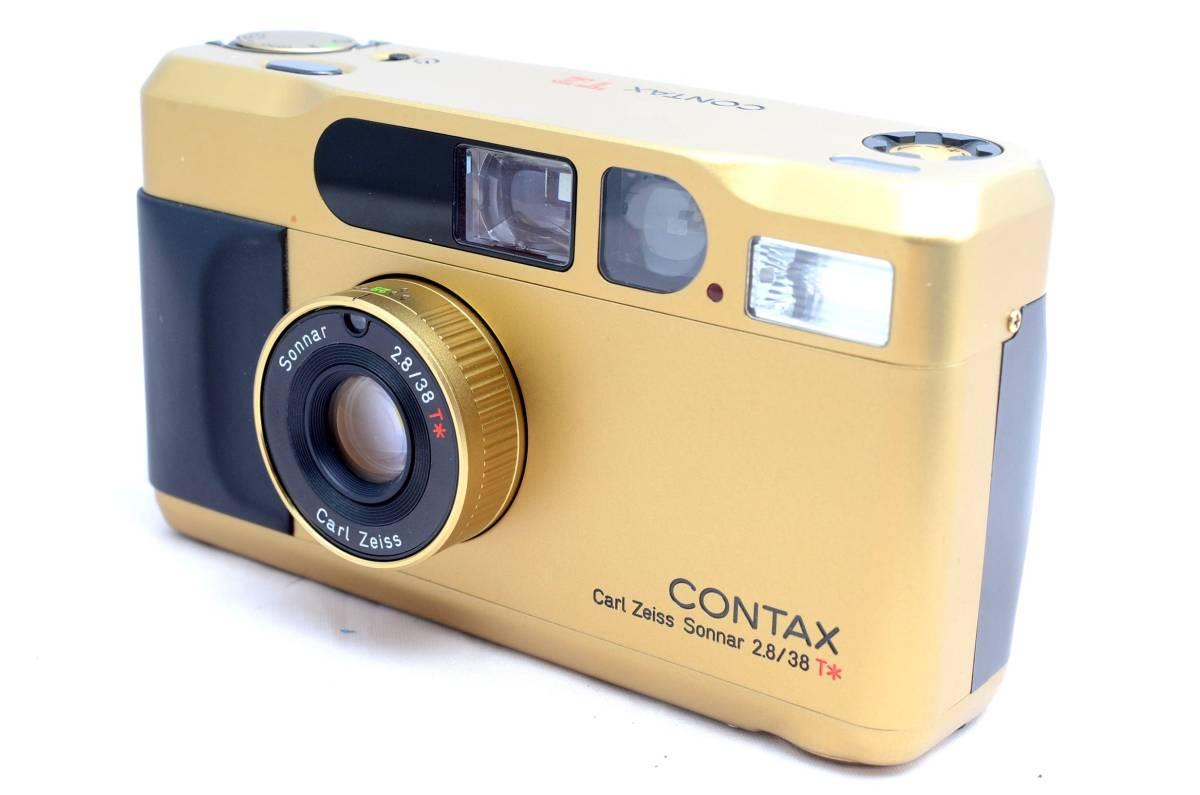 ★新品同様極上美品★コンタックス CONTAX T2 チタンゴールド データバック付き 完全動作品 保証