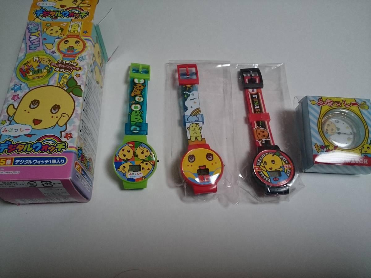 ふなっしー デジタルウォッチ 腕時計 3種類セット プラス CWウォッチ こんにちはポーズ グッズの画像