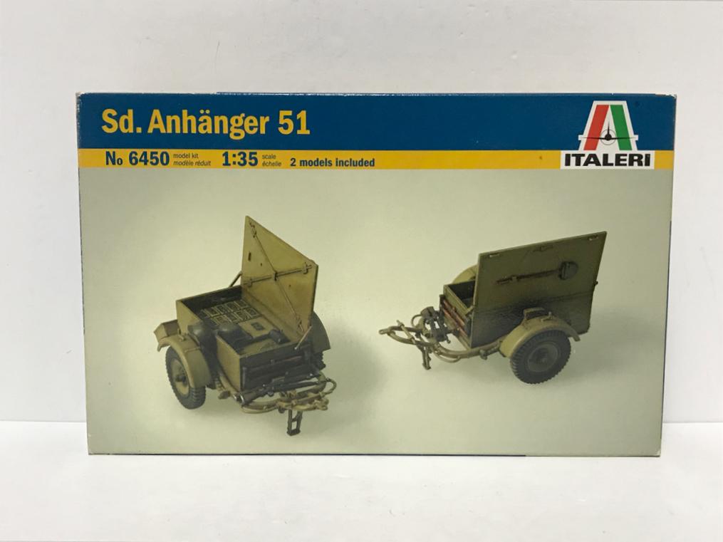 ITALERI イタレリ 6450 1/35 アンハンガー 51 運搬トレーラー Sd.Anhanger 51 2models included