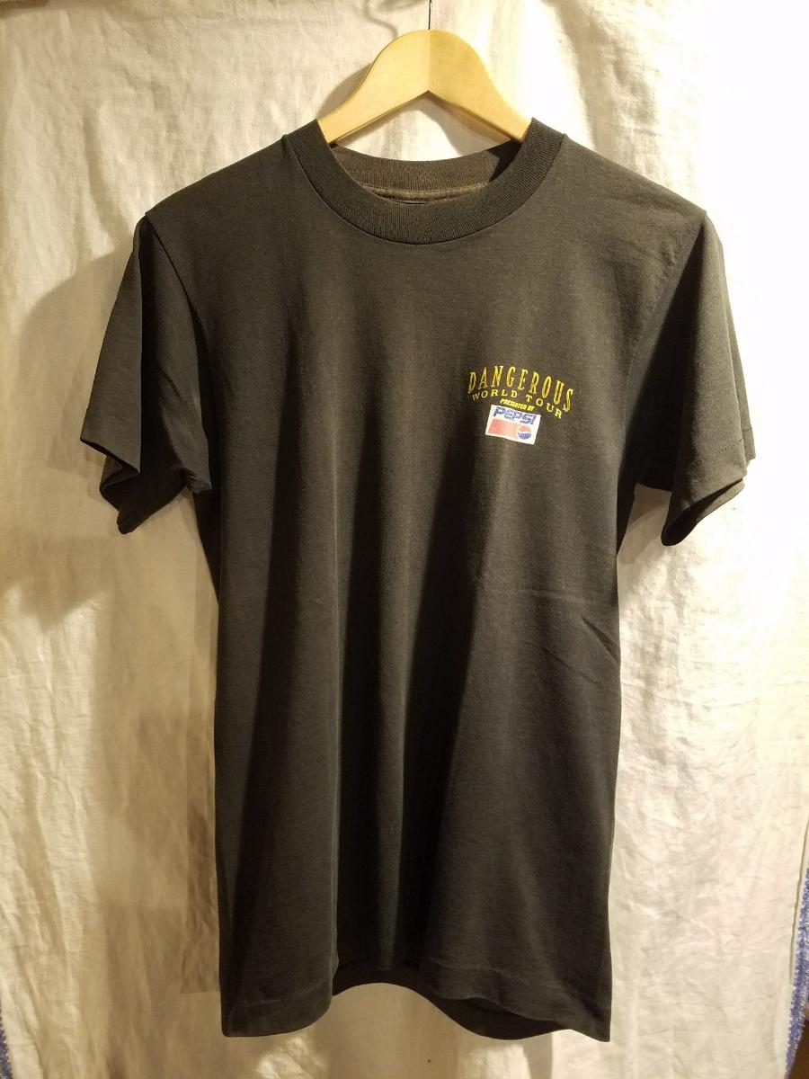 80sビンテージ マイケルジャクソン PEPSI DANGEROUS WORLD TOUR Tシャツ M  ライブグッズの画像